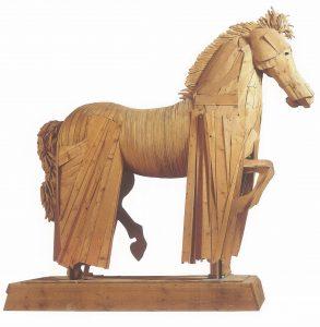 Cavallo con gualdrappa